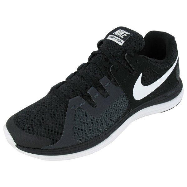 Nike Men's Lunarflash+ Black/Summit White/Anthracite Synthetic/Mesh Running Shoes