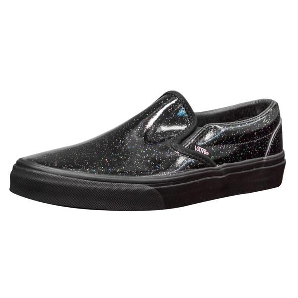 Vans Unisex Classic Slip-On Black Patent Leather Skate Shoes
