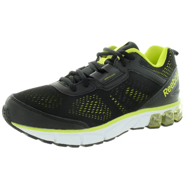 Reebok Men's Jet Dashride Black/Yellow Mesh Running Shoes