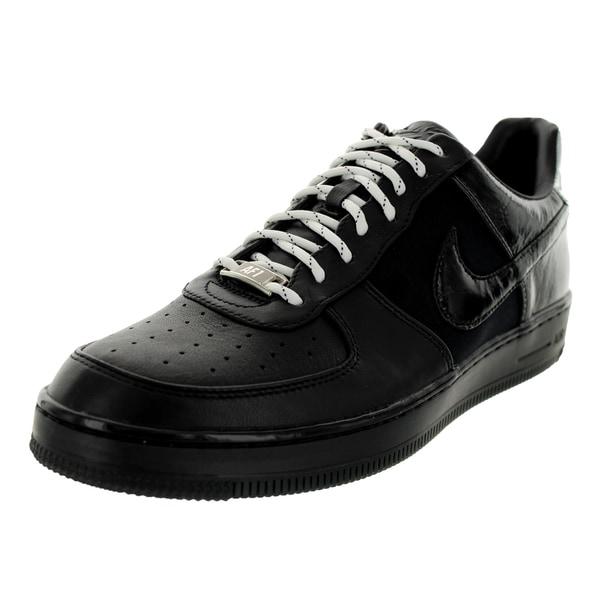 Nike Men's Air Force 1 Downtown Low Black/Metallic Silver Basketball Shoe