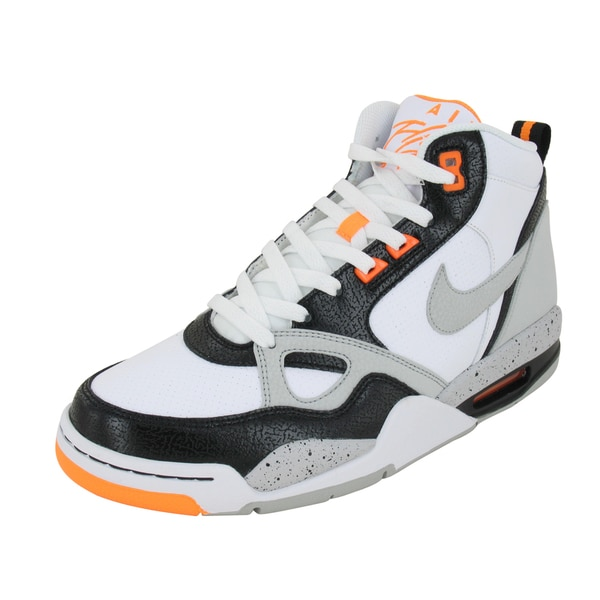 Nike Flight '13 White/Grey/Bright/Citrus/Black Mid-height Basketball Shoes