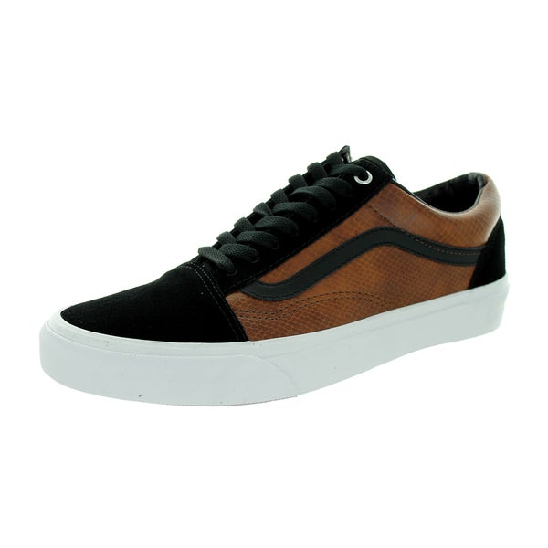 Vans Unisex Old Skool (Snake) Black/Brown Skate Shoe