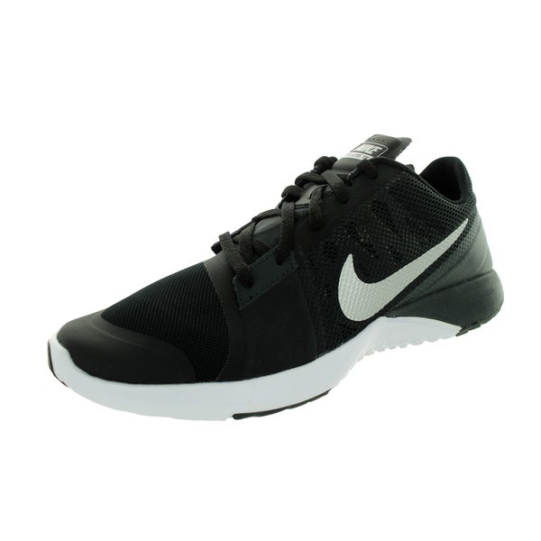 Nike Men's FS Lite Trainer 3 Black, Metallic Silver, Anthracite, and White Mesh Running Shoes