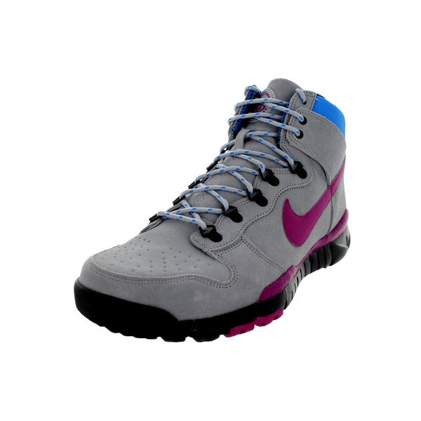 Nike Men's Dunk High OMS PRM Wolf Grey/Rave Pink/Photo Blue Boots