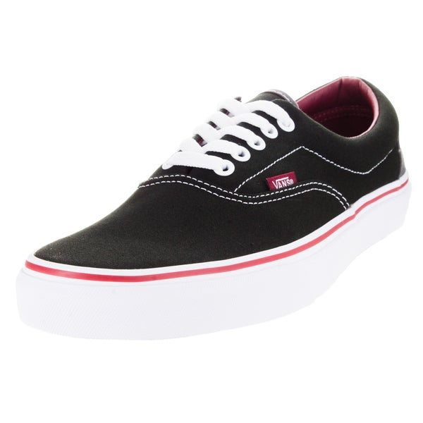 Vans Unisex Era Pop Black/Rhubarb Canvas Skate Shoe