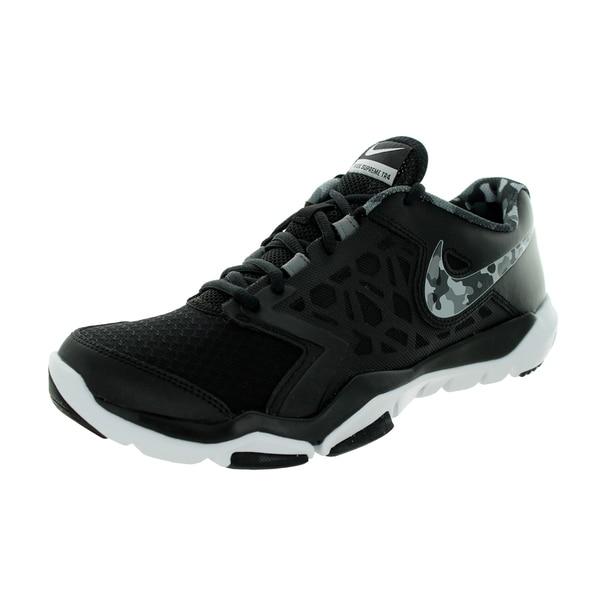 Nike Men's Flex Supreme Premium Black Mesh, Synthetic Running Shoes