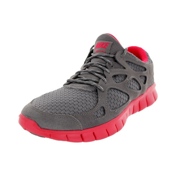 Nike Men's Free Run+ 2 Wvn Sport Grey/Sport Grey/Flame Running Shoe