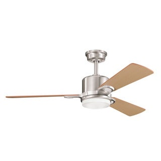 Kichler Lighting Celino Collection 48-inch Brushed Stainless Steel Ceiling Fan w/Light