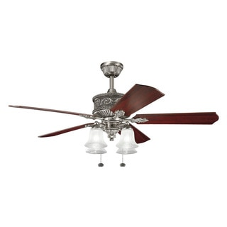 Kichler Lighting Corinth Collection 52-inch Antique Pewter Ceiling Fan w/Light