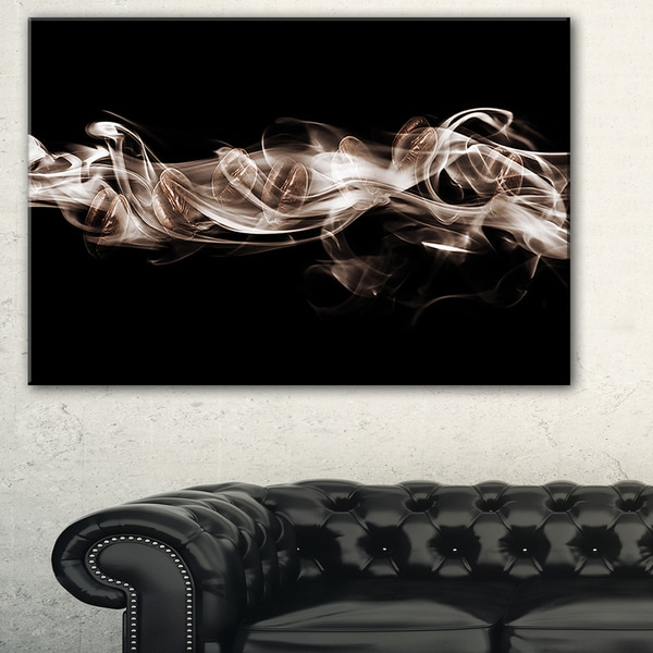 Fractal White Smoke - Abstract Art Canvas Print