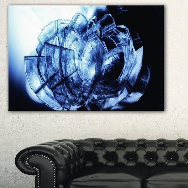 Fractal 3D Blue Glass Pattern - Abstract  Art Canvas Print 19432335