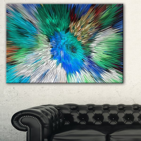 Extrusive 3D Fabric Flowers Blue - Floral Art Canvas Print