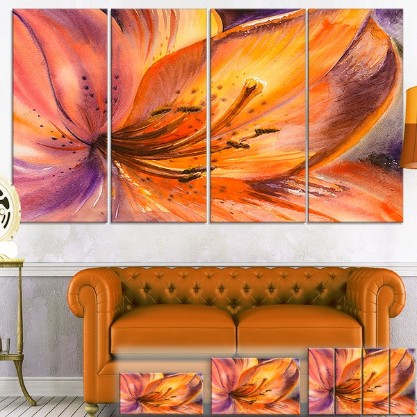 Orange Lily Flower - Art Floral Canvas Print