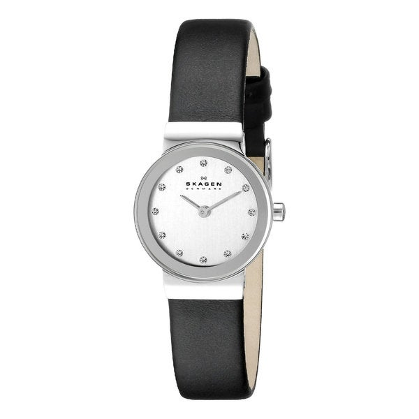 Skagen 358XSSLBC Womens' Element Black Leather Strap Watch