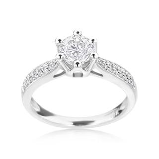SummerRose 14k White Gold 7/8ct TDW Diamond Engagement Ring (H-I, SI2-I1)