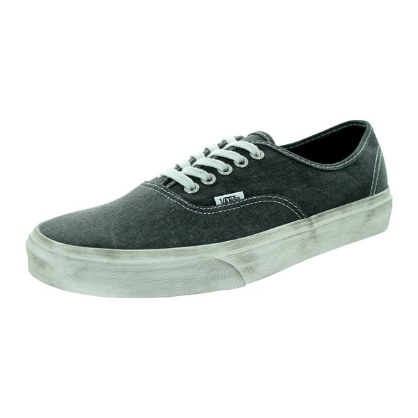 Vans Unisex Authentic Overwashed Black Skate Shoe