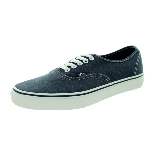 Vans Unisex Authentic Washed Dark Blue Skate Shoe