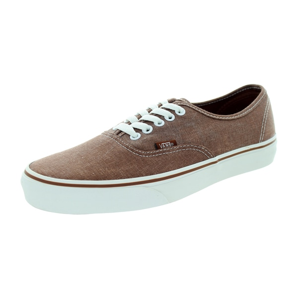 Vans Unisex Authentic Washed Brown Skate Shoe