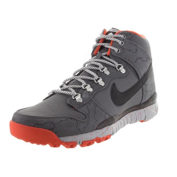 Nike Men's Dunk High R/R Dark Grey/Black/Wlf /Unv Orange Boot