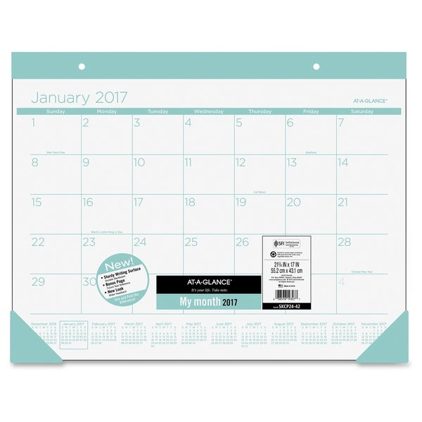 At-A-Glance Color Play Deskpad - Teal
