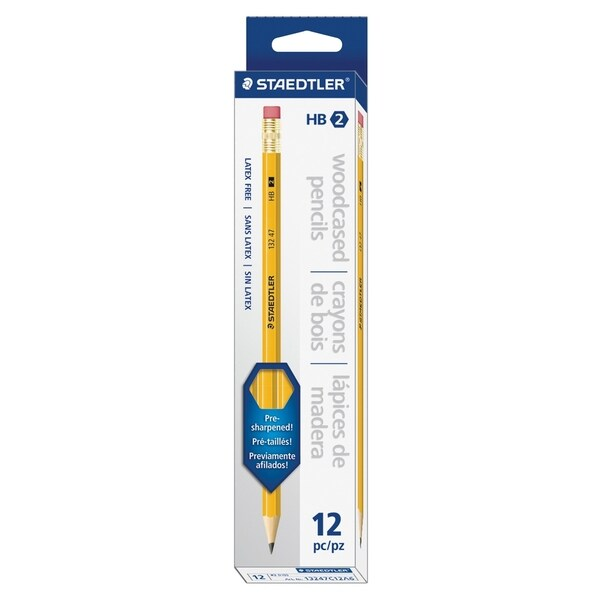 Staedtler Pre-sharpened No. 2 Pencils - Yellow (12/Box)