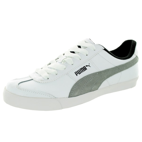 Puma Men's Roma Lp Low Lodge White/Limestone Grey/Black Casual Shoe