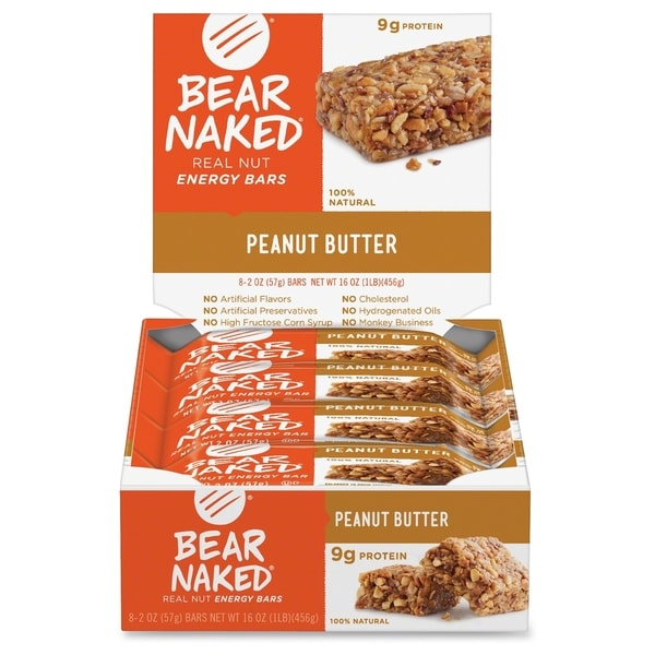 Keebler Bear Naked Peanut Butter Nut Energy Bars - Orange (8/Box)