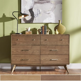 MID-CENTURY LIVING Penelope Danish Modern Curved 6-Drawer Dresser