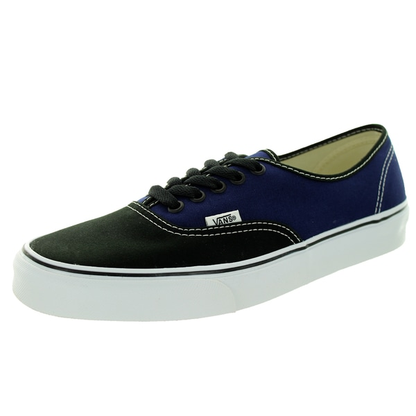 Vans Unisex Authentic 2-Tone Black/Patrio Blue Skate Shoe