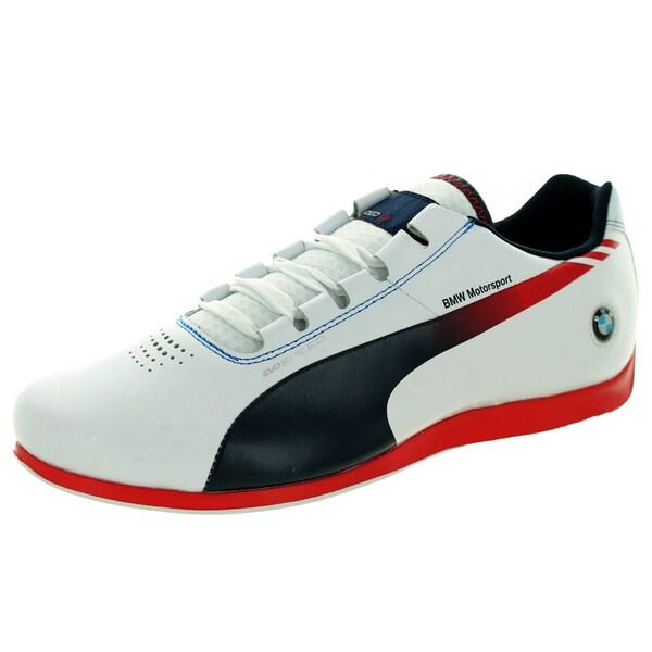 Puma Men's Bmw Ms Evospeed 1. White/Bmw Team Blue/Red Casual Shoe