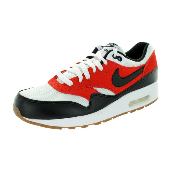 Nike Men's Air Max 1 Essential White/Black/Gamma Orange Running Shoe