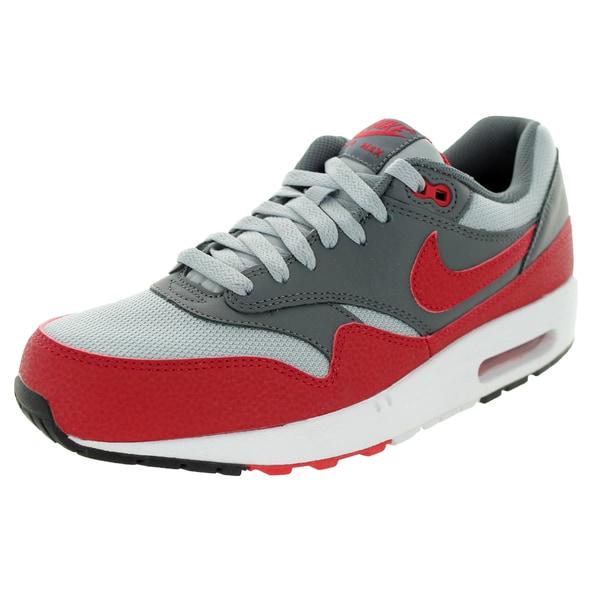 Nike Men's Air Max 1 Essential Wolf Grey/Gym Red/Dark Grey Running Shoe