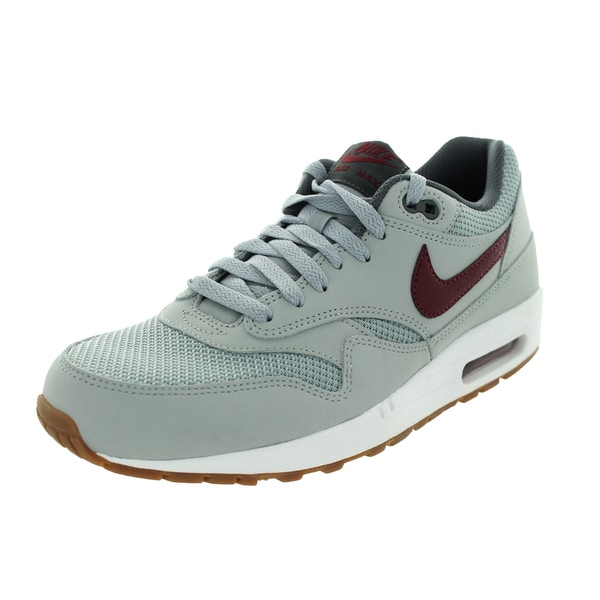Nike Men's Air Max 1 Essential Wolf Grey/Team Red/White Running Shoe