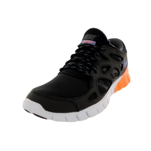 Nike Men's Free Run 2 Black/I Purple/White/Orange Running Shoe 19434471