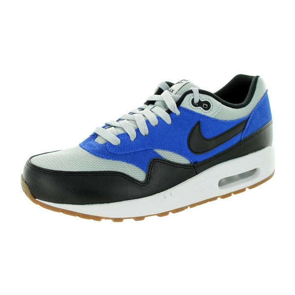 Nike Men's Air Max 1 Essential Grey Mist/Black/Lyon Blue Running Shoe
