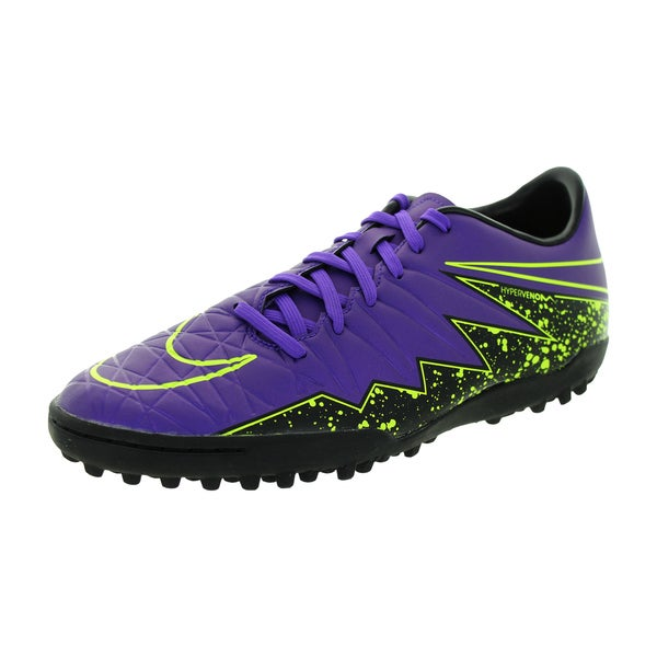 Nike Men's Hypervenom Phelon Ii Tf Hyper Grape/Hyper Grape/Black/Vlt Turf Soccer Shoe