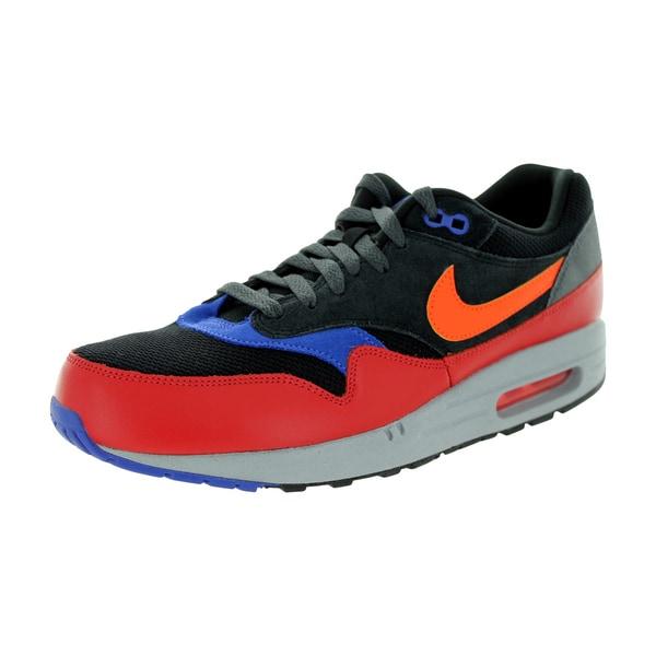Nike Men's Air Max 1 Essential Black/Hyper Crimson/Red Clay Running Shoe