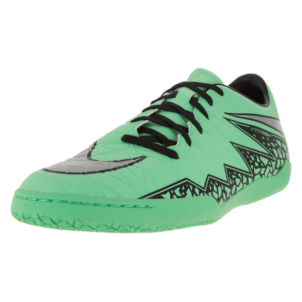 Nike Men's Hypervenom Phelon Ii Ic Green Glow/Metallic Silver/Hyper Orange/B Indoor Soccer Shoe