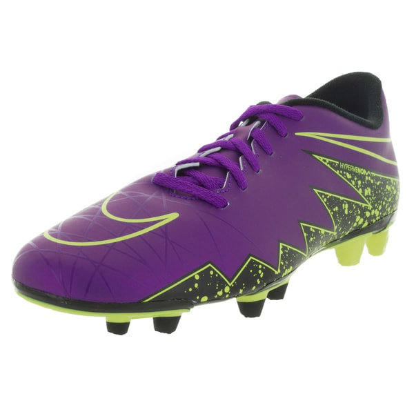 Nike Men's Hypervenom Phade Ii Fg Hyper Grape/ Grape/Black/Vlt Soccer Cleat
