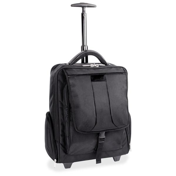 "Bond Street Carrying Case (Rolling Backpack) for 15.6"" Notebook, Travel Essential - Black - Black"