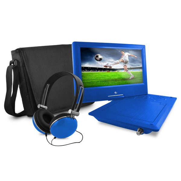 "Ematic EPD919BTU Portable DVD Player - 9"" Display - Blue"