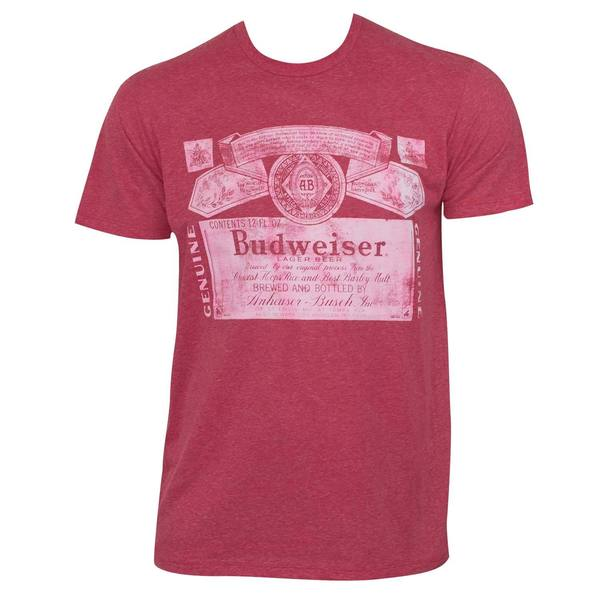 Men's Budweiser Red Triblend Faded T-shirt