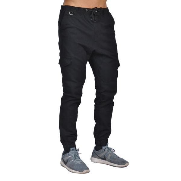 Dirty Robbers Men's Black Cotton/Spandex 6-pocket Joggers