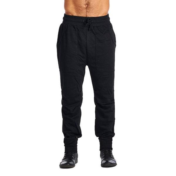 ARSNL Men's Black Cotton-Polyester Active-wear Pants 19435575