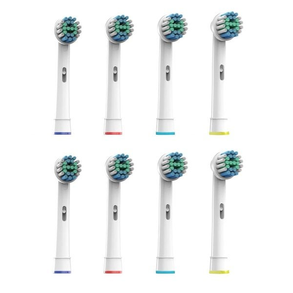 Pursonic EBS17-8 Sensitive Premium Floss Action Replacement Toothbrush Heads for Oral B (Pack of Eight)