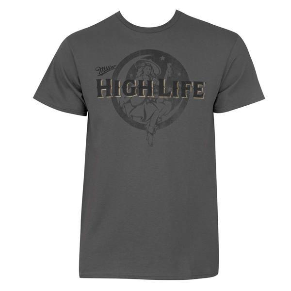 Miller High Life Grey Cotton T-shirt