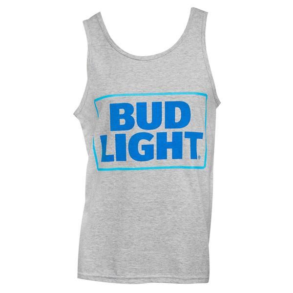 Men's Bud Light Grey Cotton Tank Top