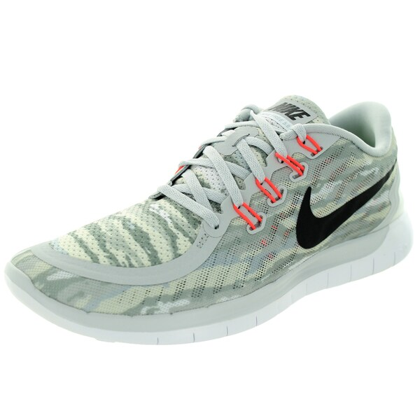 Nike Men's Free 5.0 Print Pure Platinum/Black/Hot Lava Running Shoe