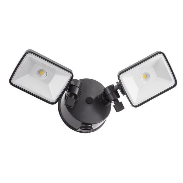 Lithonia Lighting OLF 2SH 40K 120 PE BZ M4 2-Head Dusk to Dawn Outdoor LED Black/ Bronze Square Flood Light