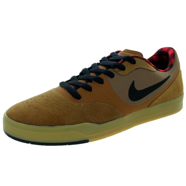 Nike Men's Paul Rodriguez 9 Cs Ale Brown/Black/Gym Red Skate Shoe